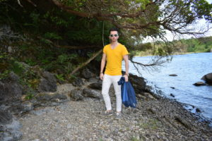 Yellow T-Shirt and White Jeans