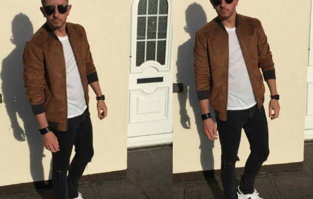 Tan bomber jacket header image