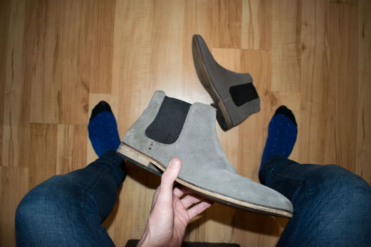 Ben Sherman Socks and Grey Chelsea Boots