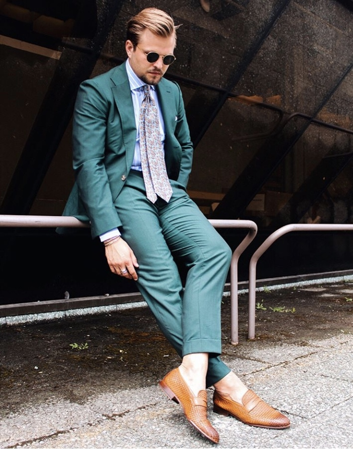 Pitti Uomo Green Suit