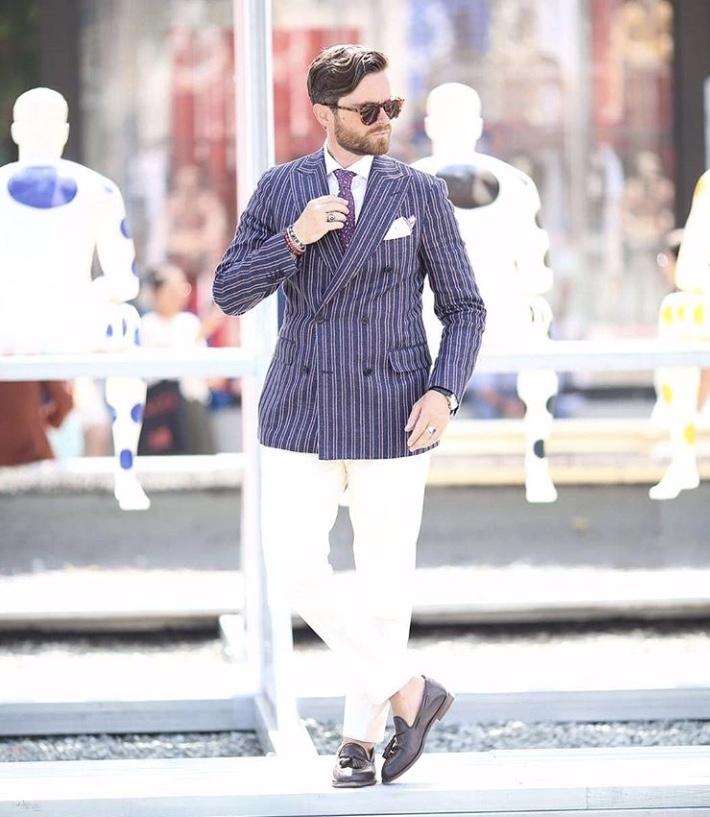 Pitti Uomo Striped Blazer