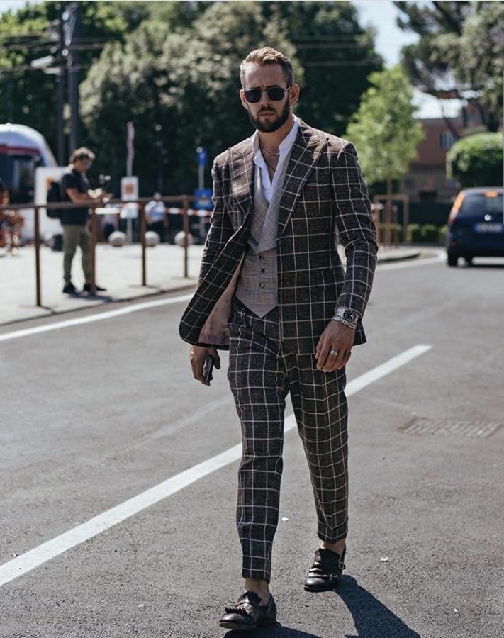 Pitti Uomo Check Suit