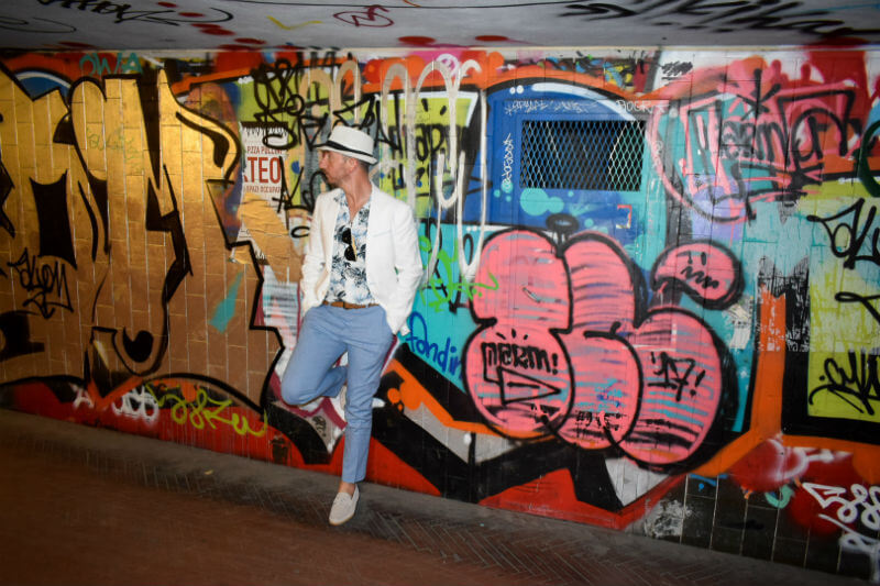Summer Style Suit trousers, hat and print shirt