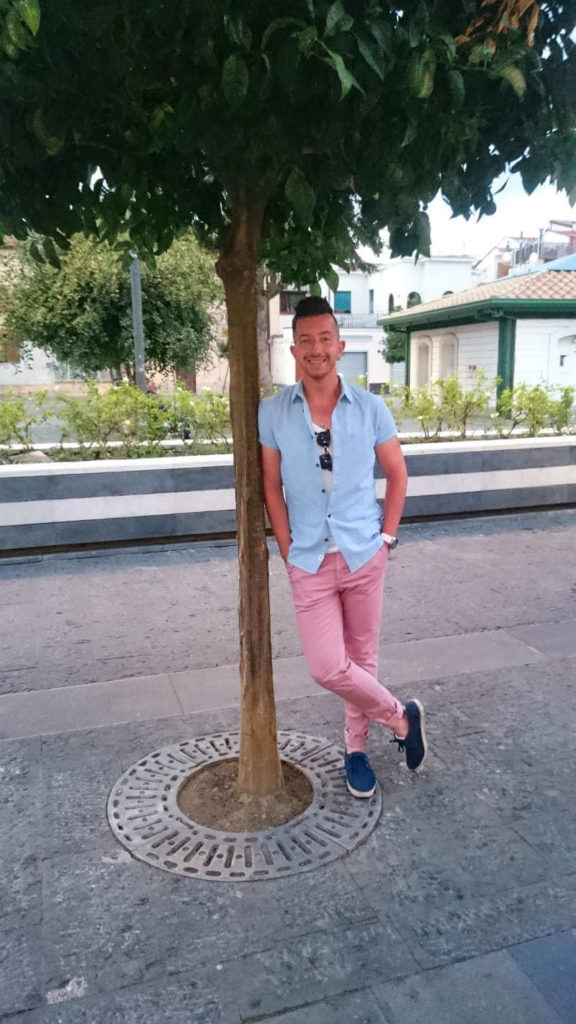 Summer style pink chinos