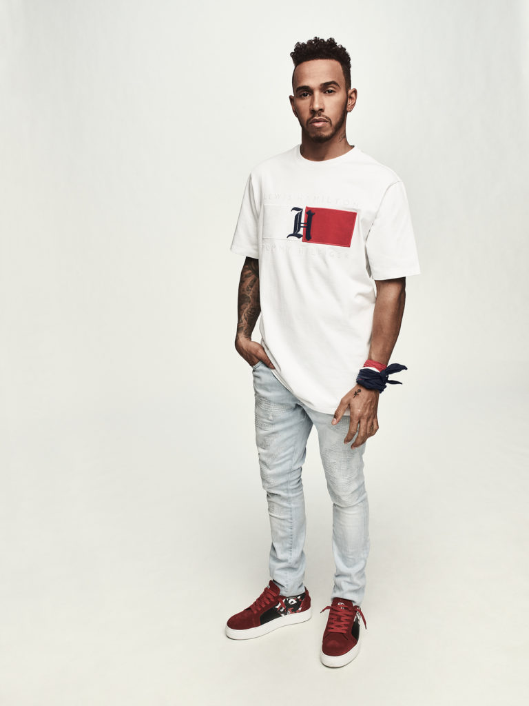 TommyXLewis Lewis Hamilton White T-Shirt